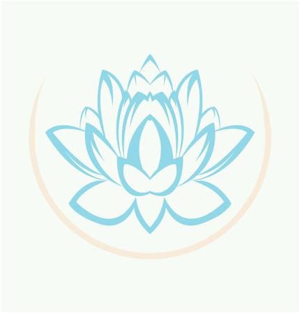 yoga meditation: Lotus Flower Symbol Illustration