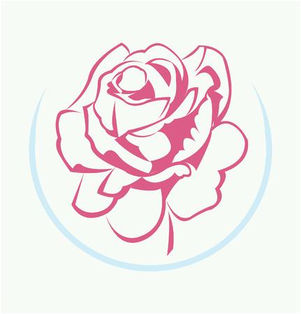 rose silhouette: Rose Flower Symbol