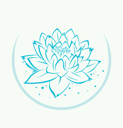 Lotus Flower Symbol Vector