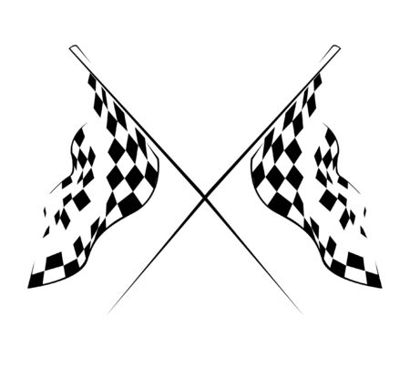 racing checkered flag crossed: Flag race
