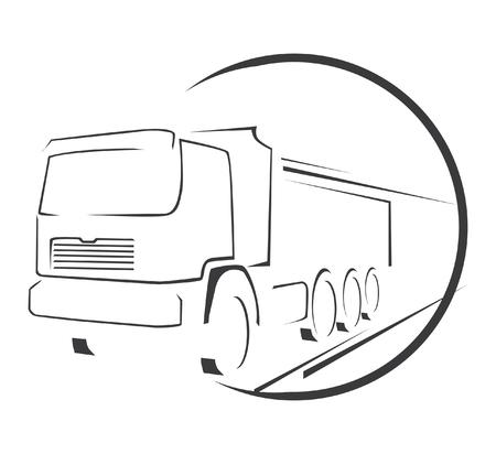trucking: Big Truck Symbol