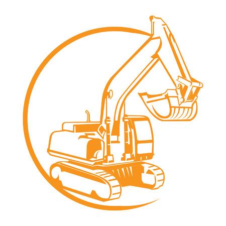 maquinaria pesada: excavadora Vectores