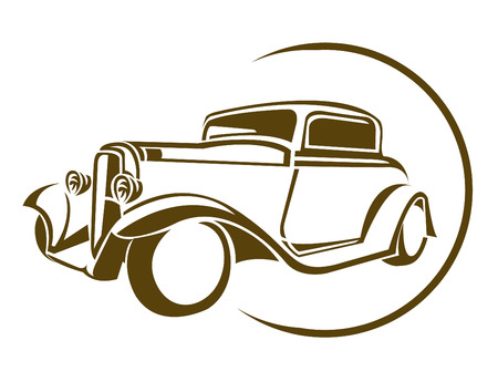 Old Car Symbol Vector