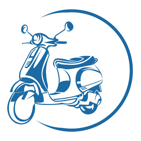 vespa: Scooter Symbool Stock Illustratie
