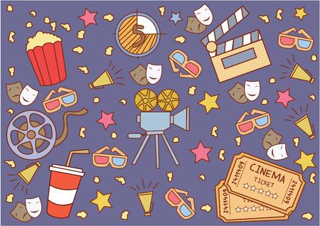 Cinema Attribute  イラスト・ベクター素材