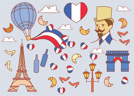 France Travel Vector