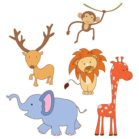 kiddy: Set of Doodle Animal Safari