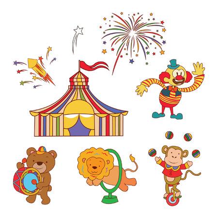 Doodle Circus Parade Illustration