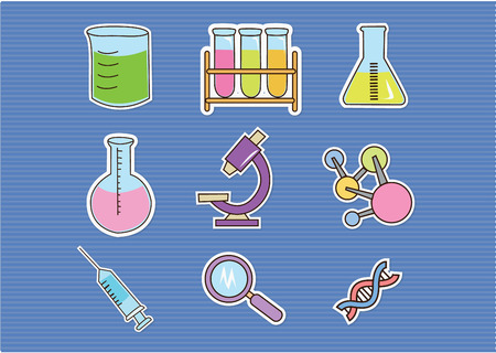 Doodle Bio Technology Vector