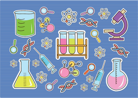 Wallpaper Doodle Bio Technology Vector