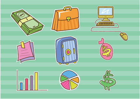 Doodle Business and Finance Vector