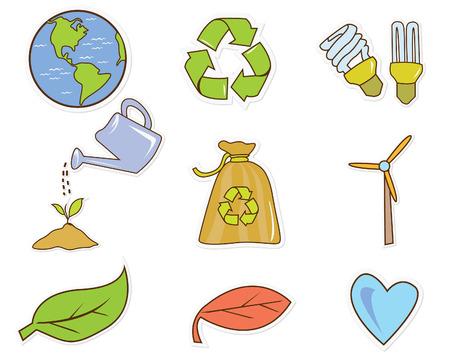 kiddy: Funny Illustration Eco Green Object