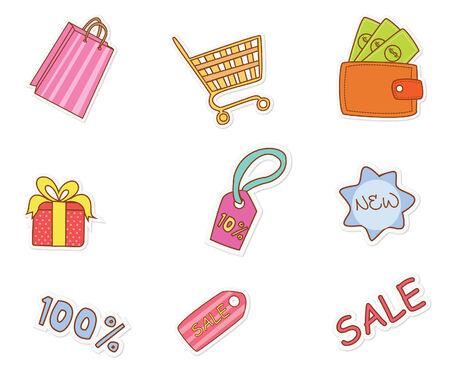 Fashion Shopping Object Vector