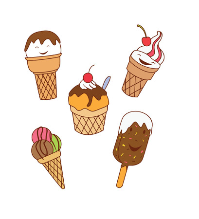 kiddy: Ice Cream Object Collection Illustration