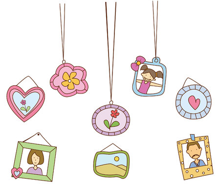 Love Frame Banner  Object Collection Vector