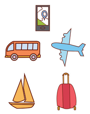 kiddy: Traveling  Object Collection Illustration