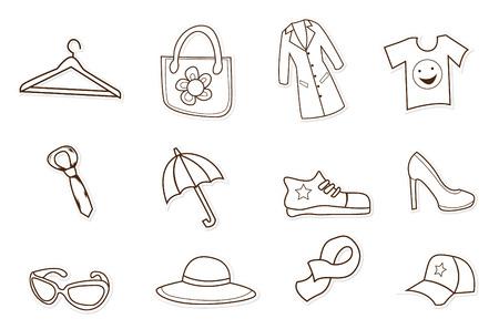 troley: Fashion Shopping Hand Drawn Sketch Doodle Illustration