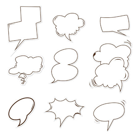 buble: bubble speech Object Hand Drawn Sketch Doodle Illustration