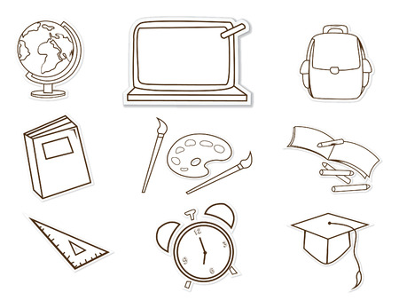 School Facility Object Hand Drawn Sketch Doodle Vector