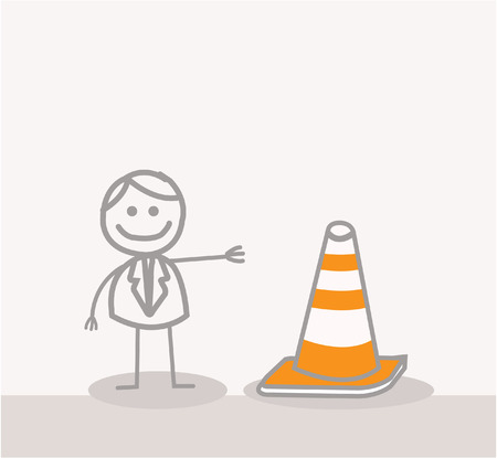 Funny Doodle : Under Construction Sign Vector
