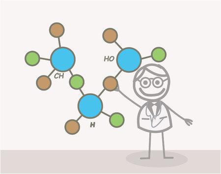Doodle :Scientist Vector