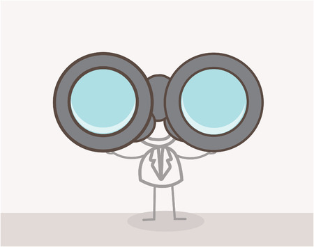 Man with Binoculars Doodle