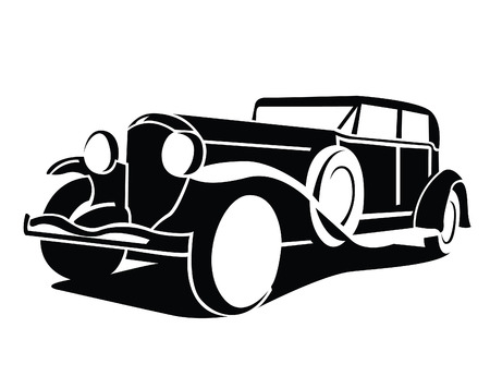 auto shop: Classic Car Symbol