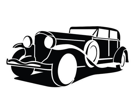 coche antiguo: S�mbolo de Autom�viles Cl�sicos Vectores