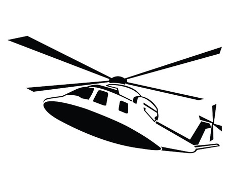 Helicopter Symbol Vector