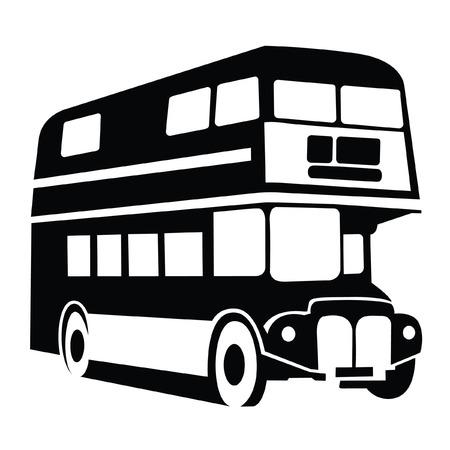 ロンドン バス記号  イラスト・ベクター素材