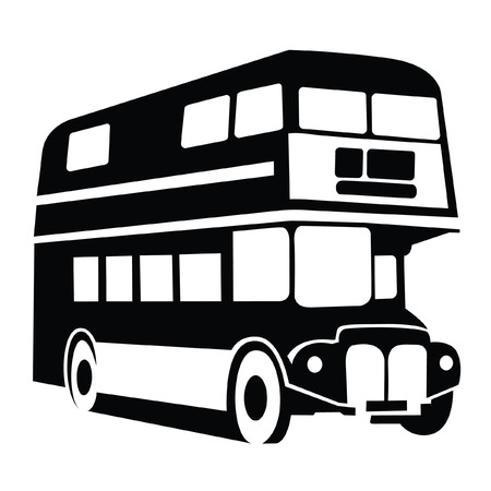 double decker: London Bus Symbol Illustration