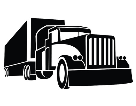 camion: Cami�n Remolque S�mbolo Vectores
