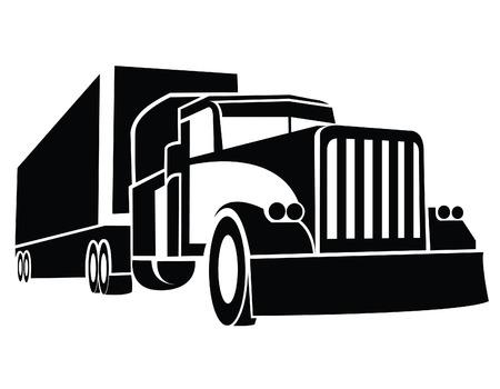 ciężarówka: Ciężarówka Przyczepa Symbol