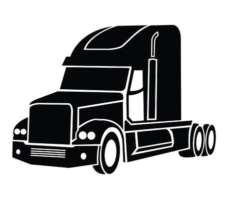 remolque: Camión Símbolo Vectores