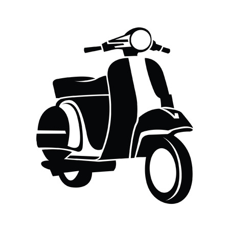 scooter: S�mbolo de la motocicleta Vectores
