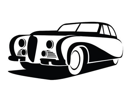 antique car: antique Car Symbol Illustration