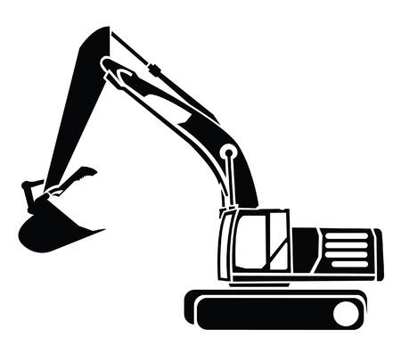 construction vehicle: Excavator Symbol