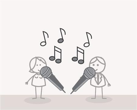 music figure: Duet Singer