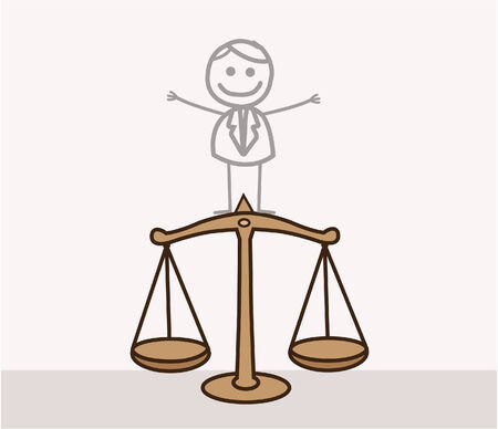 scale of justice: Man Justice Scale