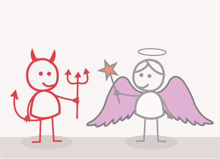悪魔の天使  イラスト・ベクター素材