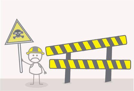 hazardous area sign: Zona de Peligro
