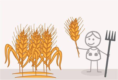 plant stand: Wheat Farmer