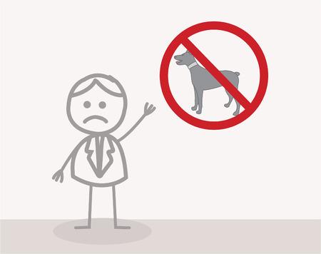 illegal zone: No Dog Symbol