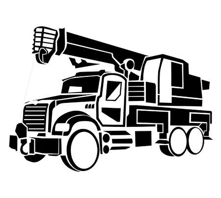 camion grua: Camión grúa  Vectores