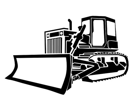 11 445 bulldozer stock vector illustration and royalty free rh 123rf com dozer clipart black and white dozer clipart black and white