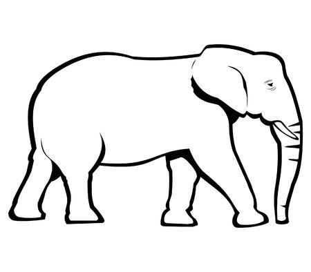 siluetas de elefantes: Elefante Bosquejo Vectores