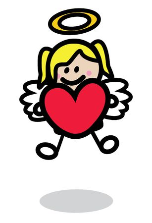wit: Cupid girl wit love ballon