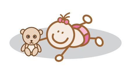 baby girl: Happy baby girl
