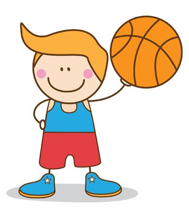 boy basketball player Vector