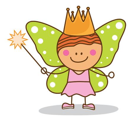 kid fairy costumed Vectores